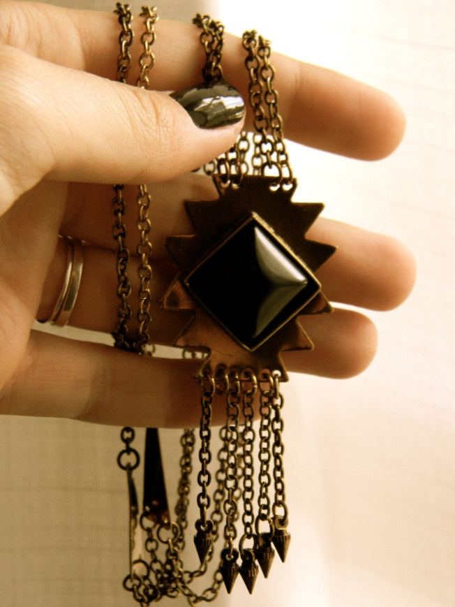 Diamond Bar Necklace Uk