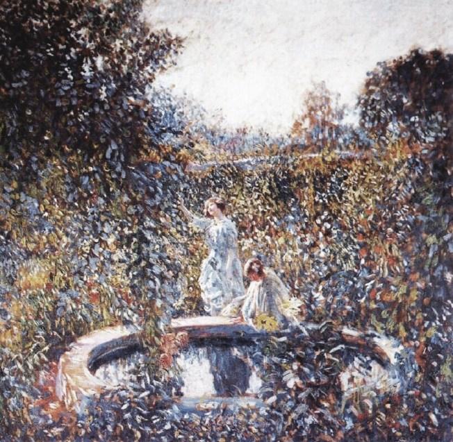 g11 1912c Frederick Frieseke (American artist, 1874-1939) The Blue Garden.jpg