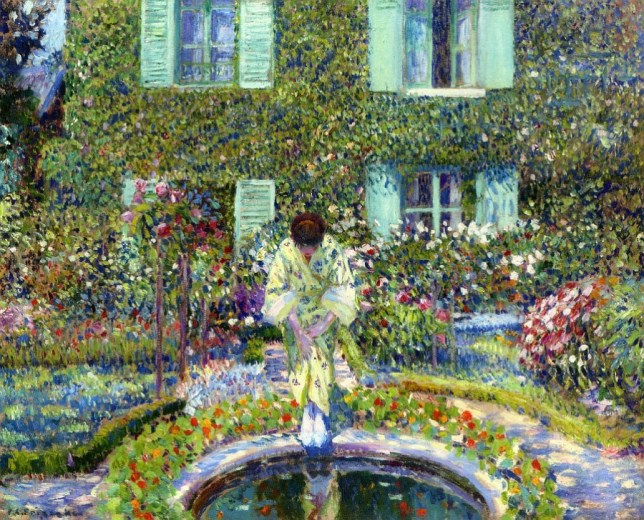 g1a Frederick Frieseke (1874-1939) The Garden Pool oil on canvas 64.8 x 81.3 cm