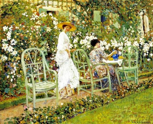 g9 1911c Frederick Frieseke (American artist, 1874-1939)  Lilies.jpg